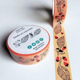 washi tapes dondolando nell'autunno