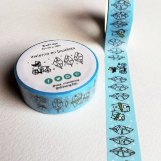 washi tapes inverno in bicicletta