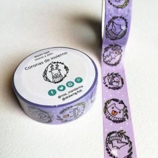 washi tapes coroncine invernali