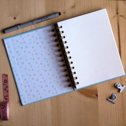 notebook azzurro